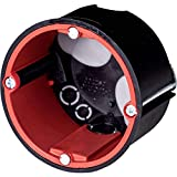 f-tronic Hohlwandbrandschutzdose BS2700, Ø 68mm, 50mm tief mit Leitungs- und Rohreinführungen - 10 Stück