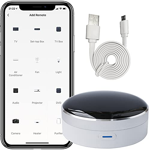 Smart Home Hub IR Blaster Remote Work with Wi-Fi,Infrared Android Phone iOS Home Automation Devices Smart Air Conditioner Controller,Voice Control Compatible with Alexa,Google Home,SmartThings,IFTTT.