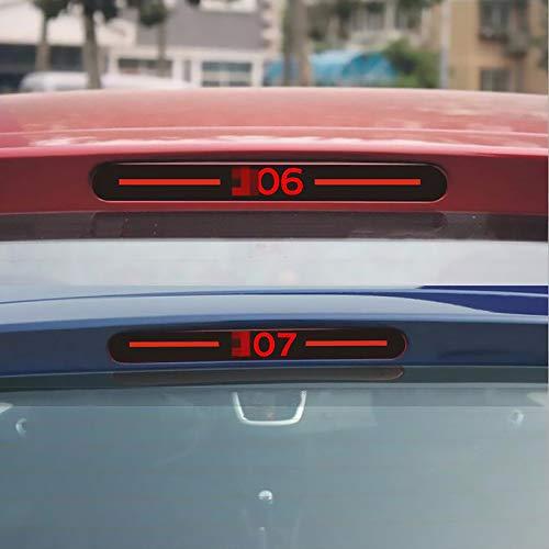 Lfldmj Para Peugeot 206 307, Auto Car Styling Negro de Fibra de...