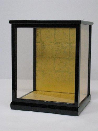 木製 人形ケース(ガラスケース)間口27×奥行24×高さ35cm(黒桑塗り) 日本人形 博多人形 市松人形 わらべ人形