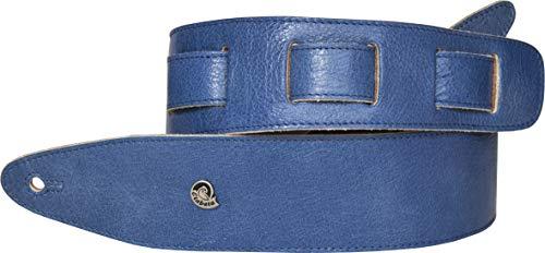 Etabeta Artigiano Toscano - LIGHTNING BLUE LIMITED ED. - Tracolla Chitarra e Basso in Vera Pelle Conciata al Vegetale - Made in Italy (blu acceso)