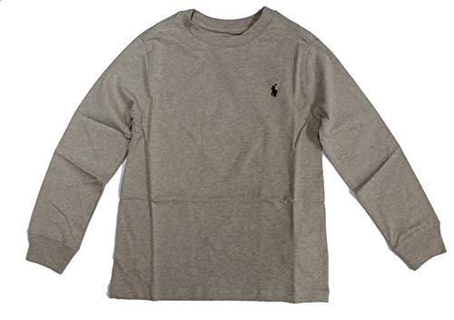 Ralph Lauren - Maglietta a maniche lunghe, colore: Grigio Grigio 9 Mesi