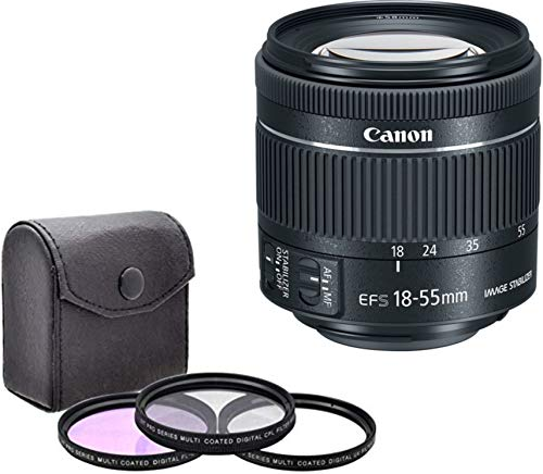 Canon EF-S 18-55mm f/4-5.6 is STM Lens -New Smaller Version- (White-Box) Bundle