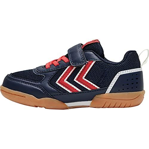 hummel AEROTEAM 2.0 JR VC Handball Shoe, Black IRIS/Rubber, 31 EU