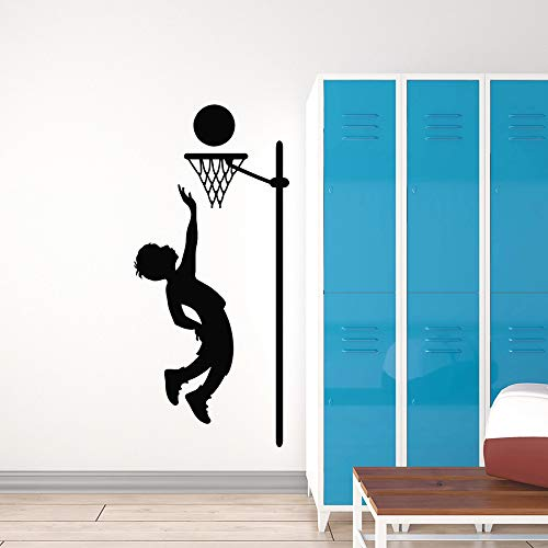 Tianpengyuanshuai fotobehang spel bal basketbal speler vinyl raam sticker kinderkamer kinderkamer decoratie muurschildering