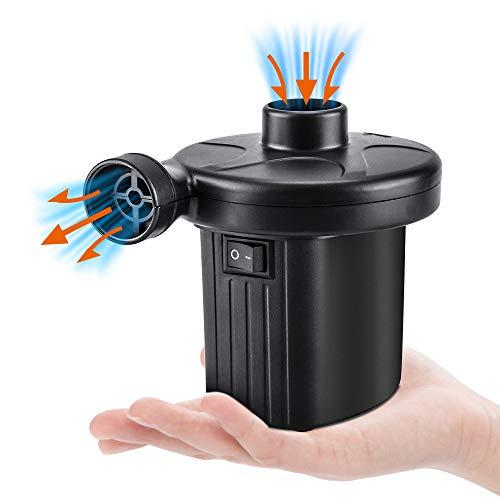 Oziral Elektrische Luftpumpe 2 in 1 Elektropumpe mit 3 Luftdüse Kompressor für Aufblasbare Matratze, Schlauchboote, Schwimmring Oder Camping Schnellbefüllbarer Luftmatratze Pumpe Inflator Deflator