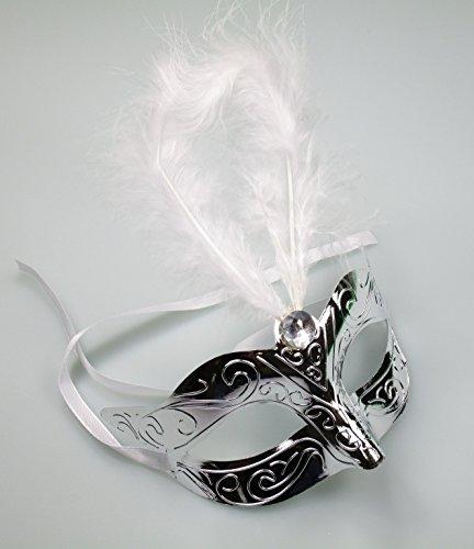Creative Masque Yeux métallique avec Plumes SIL