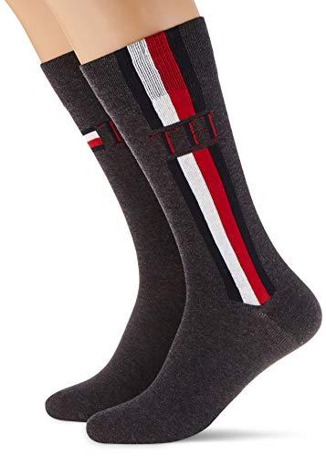 Tommy Hilfiger Damen Socken, middle grey melange, 39-42, 2er Pack