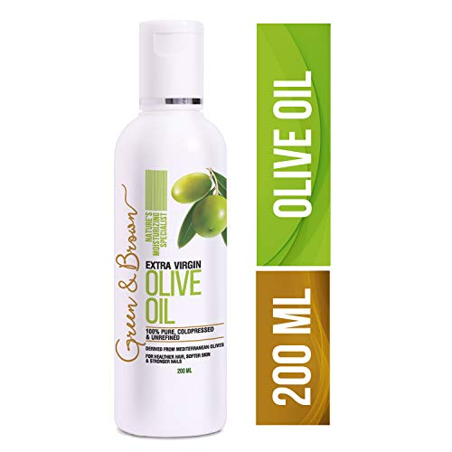 Green & Brown Olive Oil Extra Virgin For Hair, Skin and Face...