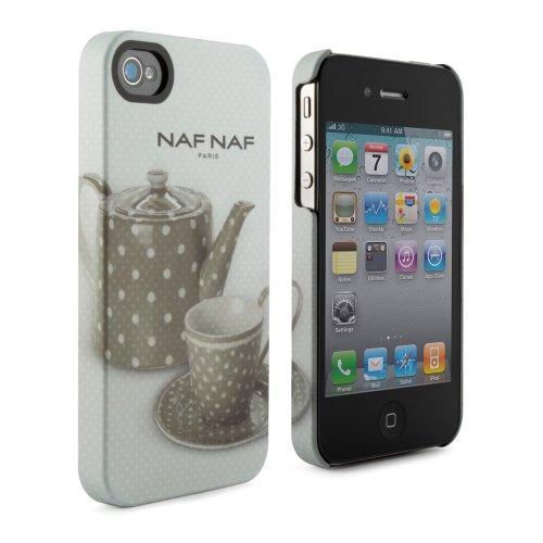 NAF NAF Paris iPhone 4S Hardcase Hülle Hartschale für das Apple iPhone 4G 4S 4. Generation - Teekanne