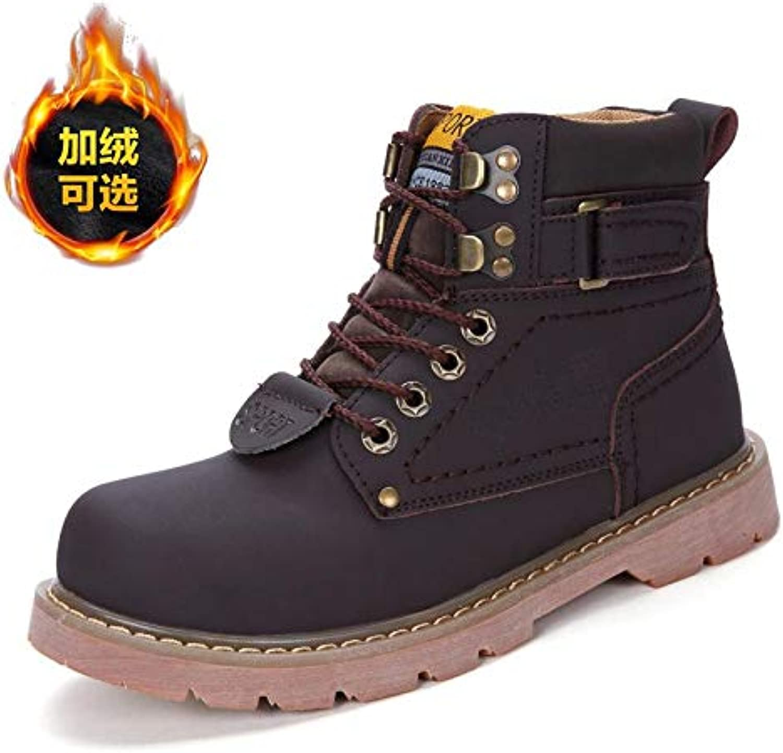 LOVDRAM Boots Men's Autumn Cotton shoes Men'S Martin Boots Men'S Tooling Short Boots Desert Boots Thick Men'S shoes