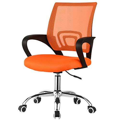 LYQQQQ Silla de Oficina giratoria - Negro - Suave y cómodo - Ruedas trípode del Metal - Gaming-Negro Naranja Verde Opcional (Color : Orange)