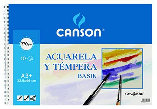 Álbum Espiral, A3+ (32,5x46 cm) 10 Hojas, Guarro Acuarela Basik 370g