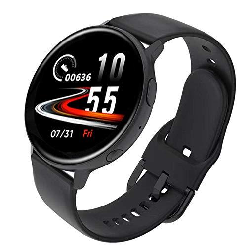 ZEIYUQI Smartwatch,Bluetooth-Anruf 1.3 Zoll IPS 240 X 240 Pixel Full Touch,Multisportmodus/SchrittzäHler/Stoppuhr/Taschenrechner,Musikwiedergabe Dual UI-Menü Smart Watch Uhren Herren,Black