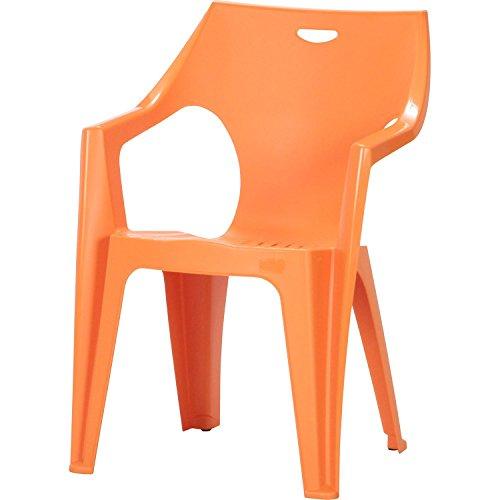 ガーデンチェアー クレタチェアー 1脚, オレンジ( プラスチック 軽量 屋外 イス ガーデン チェアー クレタ イタリア製)