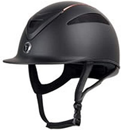 BLACK IrahdBowen Womens And Mens Riding Hats Helmets Unisex Adjustable Horse Riding Hat Helmet with PU Leather Strap