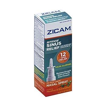 Zicam Intense Sinus Relief No-drip Liquid Nasal Spray with Cooling Menthol & Eucalyptus Menthol/Eucalyptus 0.5 Fl Oz
