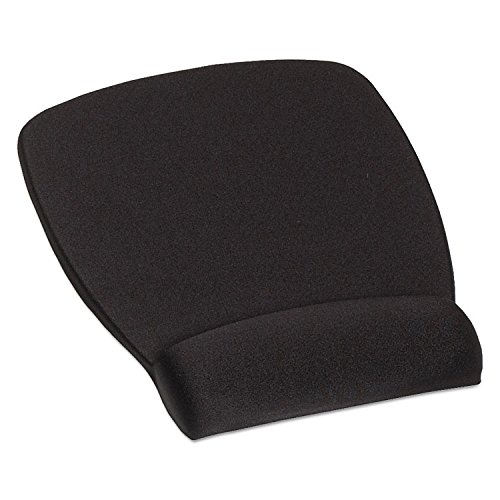 3M MW209MB Antimicrobial Foam Mouse Pad Wrist Rest, Nonskid Base, Black