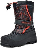 DREAM PAIRS Little Kid Kamick Black Pink Mid Calf Waterproof Winter Snow Boots Size 12 M US Little Kid