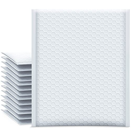 UCGOU Bubble Mailers 8.5x12 Inch White 25 Pack Poly Padded Envelopes...