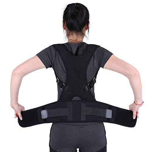 Correttore di posizione, supporto lombare regolabile Supporto correttore fascia spalla Postura cintura corretta per bambini Bambini adulti(M-Black)