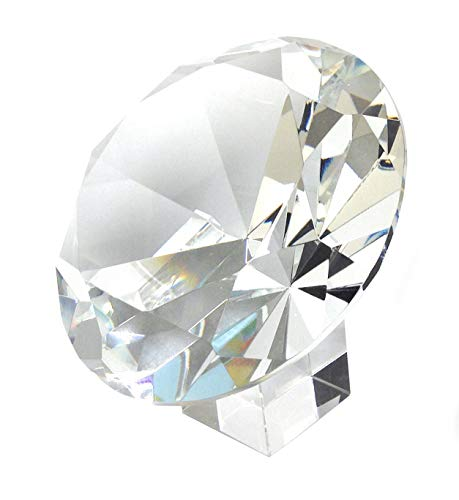 Amlong Crystal 120mm 5 Crystal Diamond Jewel Paperweight with Gift Box