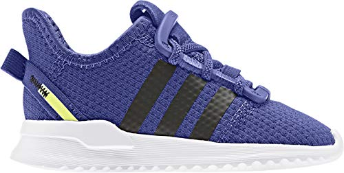 adidas Originals Baby Boys U_Path Run I Sneaker, Active Blue/core Black/hi-res Yellow, 4 Infant