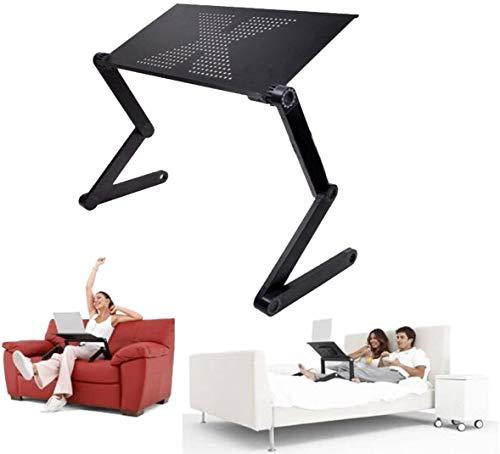 Höhenverstellbarer Laptoptisch Lapdesks Laptopständer klappbar Aluminium Notebooktisch 360° Verstellbarer Laptop Table für Lesen Frühstücks Zeichentisch Esstisch für Bett Sofa Couch