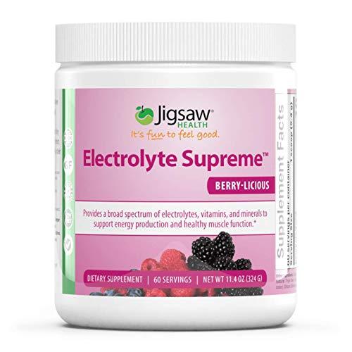 Jigsaw Health Electrolyte Supreme Jar, Berry Licious, 60 Servings