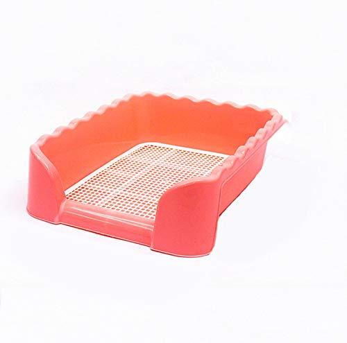 WTTTTW Haustier-Toilette, Töpfchentrainer Welpentrainer, Pad Bodenschutzschalen für Hundekaninchen und Meerschweinchen Pink,M