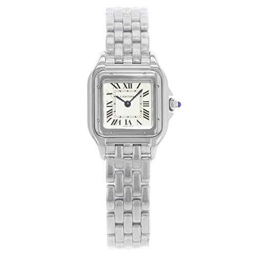 Cartier Panthere Square Face 22mm Silver Dial Steel Quartz Ladies Watch WSPN0006