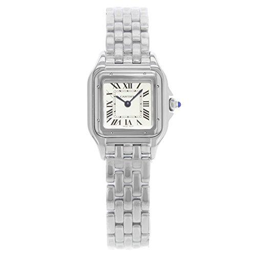 Cartier Panthere de Cartier reloj de acero inoxidable de las señoras de la esfera plateada WSPN0006