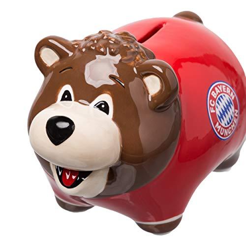 FC Bayern München Sparschwein / Spardose / Sparbüchse / Piggy Bank - Keramik FCB plus gratis Aufkleber forever München