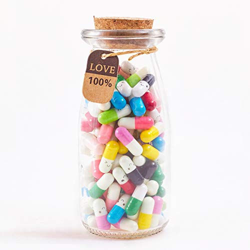 Boyfriend Gifts Message in a Bottle Capsule Letter 130 Pcs Message Pills Love Letter Cute Gifts for...