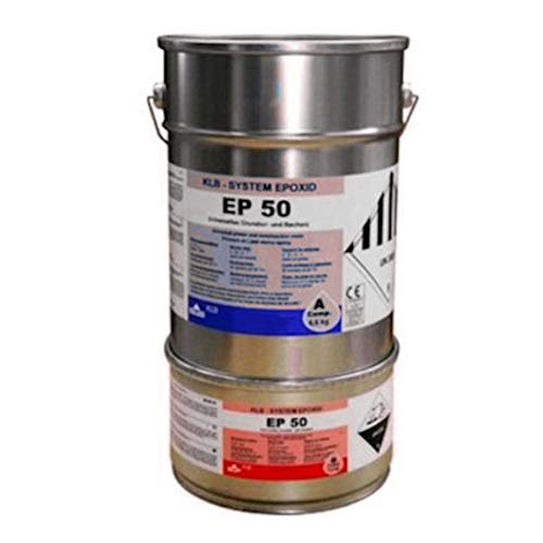10kg Silbergrau grau RAL7001 Beschichtung Epoxid Epoxi Farbe für den Wandbereich Wandfarbe Wandversiegelung, ca. 40qm, ablaufbeständig