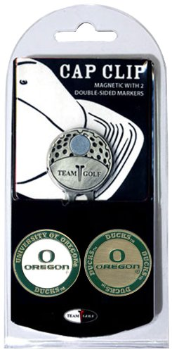 NCAA Cap Clip avec 2 Marqueurs de Balle de Golf, Homme Mixte Femme, Oregon Ducks