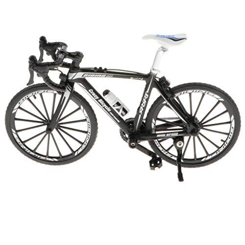 B Blesiya 1:10 Modelo de Bicicleta de Carrera/Montaña/Ciudad de Simulación en Miniatura Metal Adorno para Hogar Oficina Escritorio - Negro