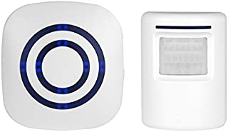 BearHoHo Door Bell Alarm PIR Motion Sensor Chime 38 Tones 1 Receiver and 1 PIR Sensor.