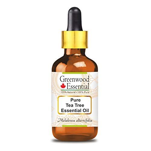 Greenwood Essential, puro olio essenziale di Tea Tree (Melaleuca Alternifolia), contagocce in vetro, 100% naturale, grado terapeutico, distillato a vapore, 15 ml
