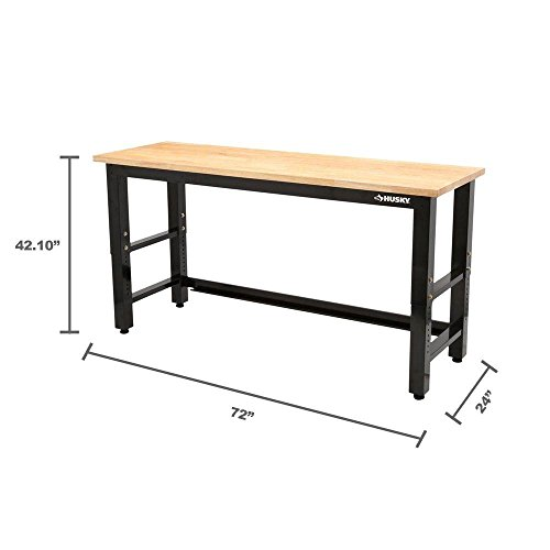 Husky 6 ft. Solid Wood Top Workbench