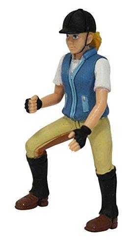 Bullyland 62616 - Spielfigur, Reiterin Nina, ca. 9,5 cm groß, liebevoll handbemalte Figur, PVC-frei, tolles Geschenk für Jungen und Mädchen zum fantasievollen Spielen