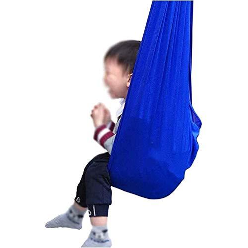 LHHL Schaukeltuch Therapie-Schaukel Innenbereich Fliegen Yoga Hängematte Ideal Für Autismus ADHS Und SPD Indoor-Schaukel Stuhl (Color : Blue, Size : 150×280CM/59×110in)