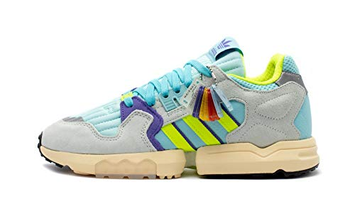 adidas Originals ZX Torsion, Clear Aqua-Solar Yellow-Purple, 5