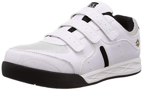 [ロットワークス] LW-S7003 JSAA A種認定 プロテクティブスニーカー 安全靴 作業靴 鋼鉄製先芯 幅広(EEE) メンズ ホワイト 28 cm 3E