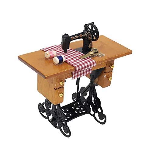 Casa de muñecas Accesorios, Mini máquina de Coser de muñecas en Miniatura...