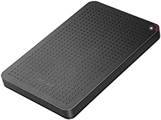 BUFFALO 耐衝撃 日本製 USB3.1(Gen1) ポータブルSSD 240GB [HDDより速い/強い] SSD-PL240U3-BK