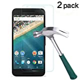 TANTEK [2-Pack] Screen Protector for LG (Google) Nexus 5X,Tempered Glass Film,Ultra Clear,Anti Scratch,Bubble Free,Case Friendly