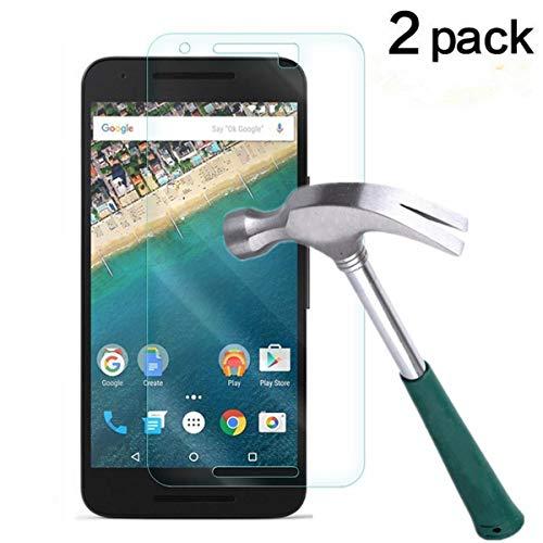 TANTEK Nexus 5X Screen Protector, [Bubble-Free][HD-Clear][Anti-Scratch][Anti-Glare][Anti-Fingerprint] Premium Tempered Glass Screen Protector for LG (Google) Nexus 5X,-[2Pack]