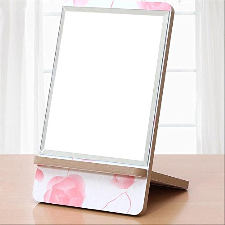 強化計算ドラマYxsd 化粧鏡 高精細デスクトップの化粧鏡、木製のプリンセスの携帯用ドレッシングミラー (Color : D)