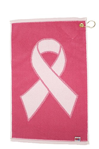 Player Supreme Pink Ribbon Cancer Awareness Golf Towel (Pink/White) 16